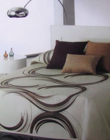 SAMANTA  kétoldalas drapp-barna ágytakaró (240×270)