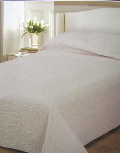 Modern, steppelt mintás ágytakarók (krém, barna), 235×250