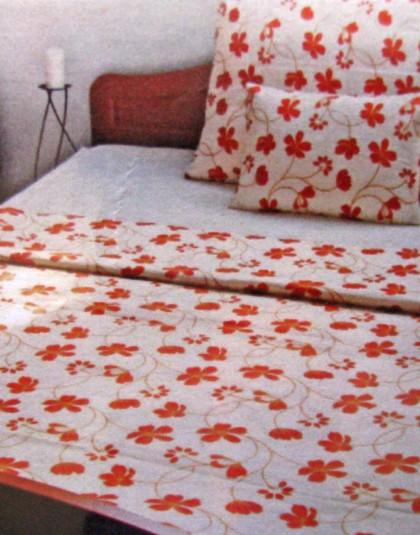 Narancsvirágos pamut-szatén ágyneműgarnitúra (140×200)