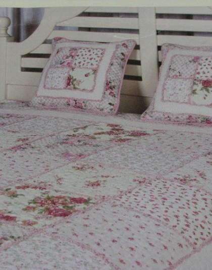 Virágmintás nagyméretű kétszemélyes ágytakaró (230*250 cm)