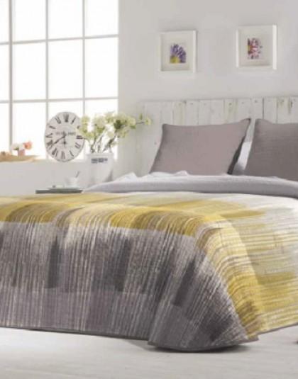 MISCAL kétszemélyes ágytakaró, 2 db díszpárnahuzattal (235*270 cm)