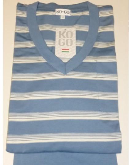 Csíkos mintázatú rövid férfi pizsama (KOGO)
