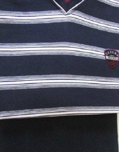 Csíkos mintázatú hosszú férfi pizsama (Ceceba)