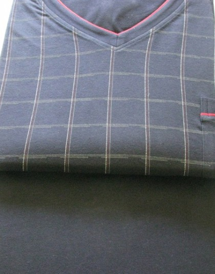 Kockás mintázatú hosszú férfi pizsama (Götzburg)