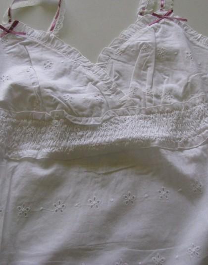 Azsúrozott fehér rövid női pizsama (Pastunette)