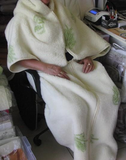 Merinó bárány gyapjú anyagú mintás nyári takaró