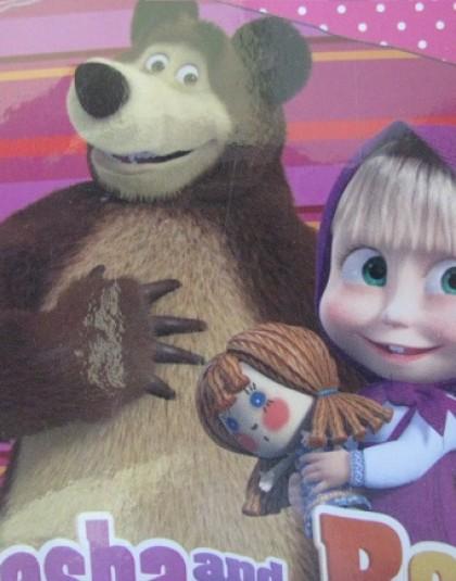 2 részes pamut gyermek ágyneműgarnitúra (Mása és a medve) (140×200 cm)
