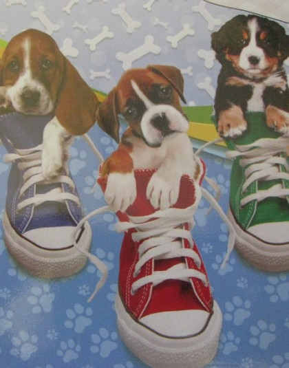 2 részes pamut ágyneműgarnitúra (Kutyák a cipőben) (140×200 cm)
