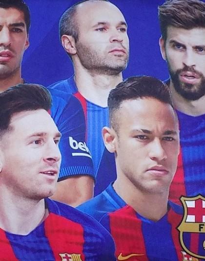 FC Barcelona díszpárna (Játékosok, 35*35 cm)