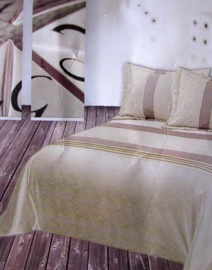 FORTUNA kétszemélyes, egyoldalas, hímzett ágytakaró 2 db díszpárnahuzattal (250×260)