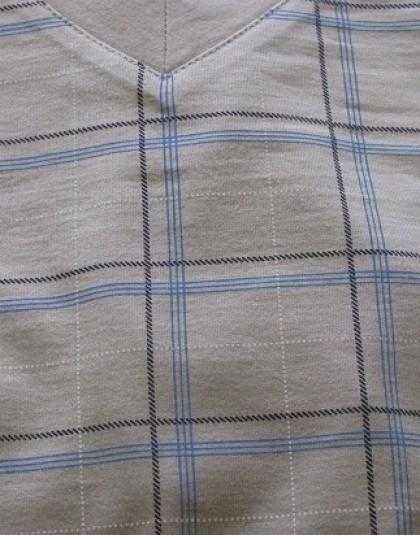 Kockás mintázatú rövid férfi pizsama (KOGO)