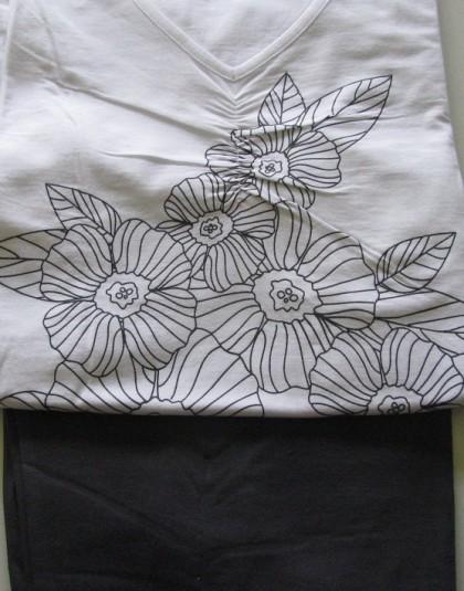 Virágmintás rövid női pizsama (Pastunette)