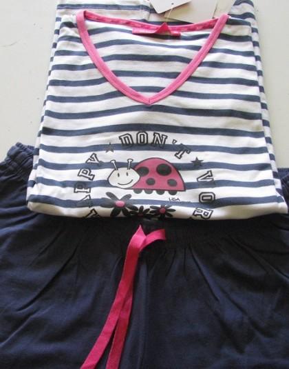 Csíkos rövid női pizsama (Rebelle)