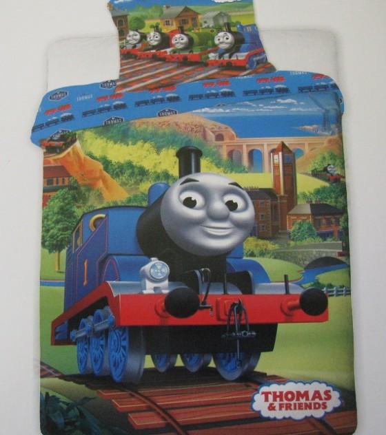 2 részes pamut gyermek ágyneműgarnitúra (Thomas és barátai) (140×200 cm)