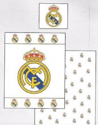 2 részes Real Madrid ágyneműgarnitúra (Címeres) (140×200 cm)