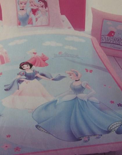 2 részes pamut ágyneműgarnitúra (Disney hercegnők) (140×200 cm)