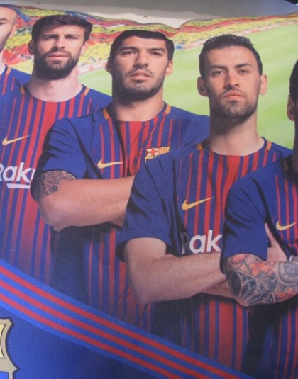 FC Barcelona díszpárna (Játékosok_2017, 40*40 cm)
