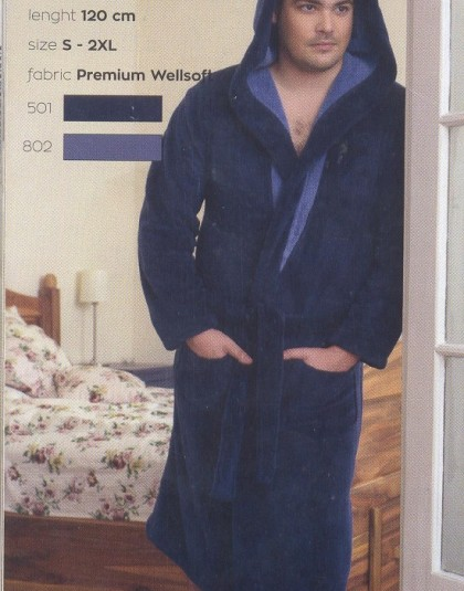 Belmanetti wellsoft kapucnis férfi köntös (W-204)