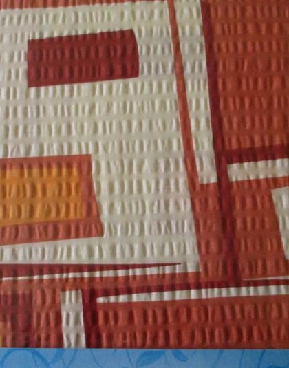 3 részes krepp ágyneműgarnitúra (Színes téglalapok) (140×205 cm)