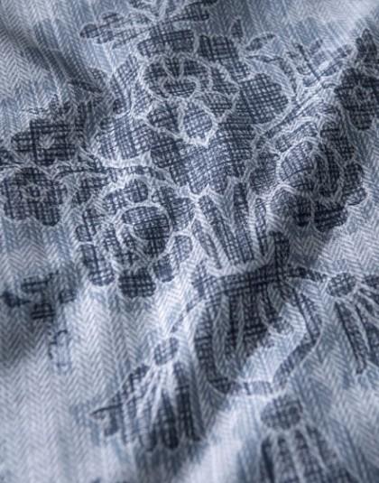 NOVIA Kék 3 részes pamut-szatén (mako szatén) ágyneműgarnitúra (140×200 cm)