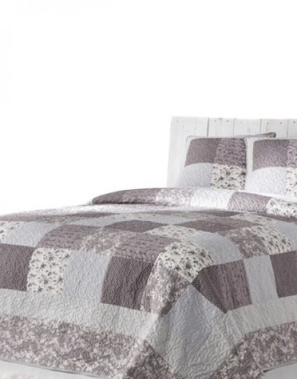 MIRTA kétszemélyes, kétoldalas ágytakaró, 2 db díszpárnahuzattal (235*270)