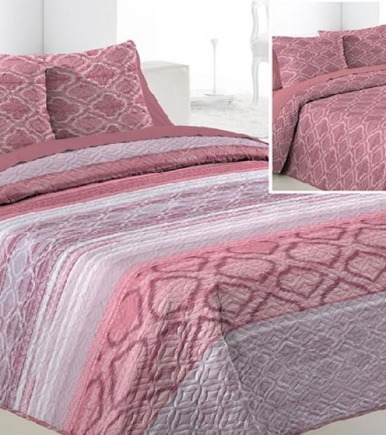 FRANSIN ROSA kétszemélyes ágytakaró, 2 db díszpárnahuzattal (235*270)