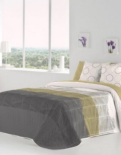 MEKO GRIS kétoldalas ágytakaró, 2 db díszpárnahuzattal (235*270)
