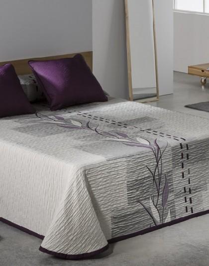 ZEN lila kétszemélyes, kétoldalas ágytakaró (235*270)