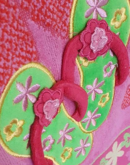 Nagyméretű pamut strandtörölköző (Strandpapucsok) (86*160 cm)