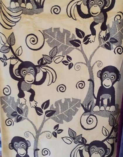Nagyméretű pamut strandtörölköző (Majmok) (86*160 cm)
