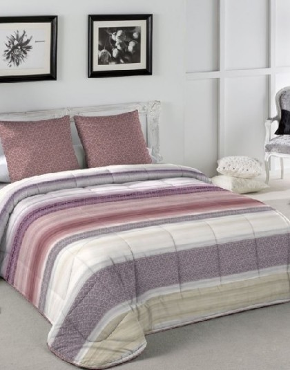 LOLA MALVA kétoldalas ágytakaró, 2 db díszpárnahuzattal (235*270)