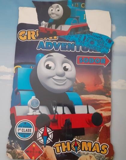 2 részes pamut gyermek ágyneműgarnitúra (Thomas - Great adventure) (140×200 cm)
