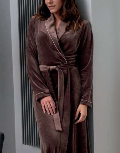 Egyszínű modál női köntös sálgallérral  (Genéve 8618, méret: 46, 48, 50)