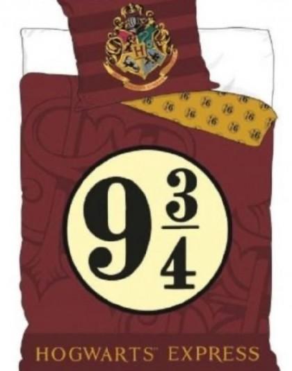 2 részes pamut gyermek ágyneműgarnitúra (Harry Potter - Hogwarts express- piros) (140×200 cm)