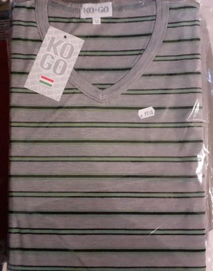 Hosszú férfi pamut pizsama (Méret: M, XL)