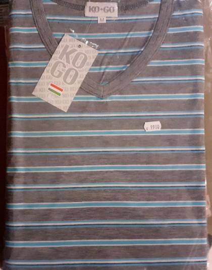 Hosszú férfi pamut pizsama (Méret: M)