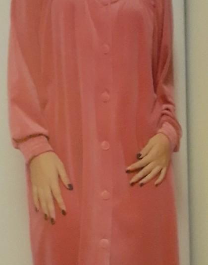 Egyszínű galléros, gombos női köntös (Modellszám: 8253)
