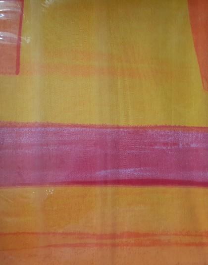 5 részes húzózáras pamut-szatén DUPLA ágyneműgarnitúra  (Színes téglalapok) (205*225 cm)