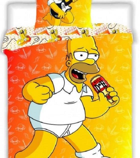2 részes pamut ágyneműgarnitúra (A Simpson család) (140×200 cm)