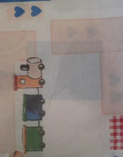 2 részes pamut ovis ágyneműgarnitúra (Svájcisapkás maci) (90×130 cm)