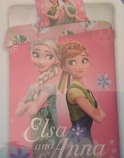 2 részes pamut ovis ágyneműgarnitúra (Disney Frozen - Elsa and Anna) (100×135 cm)